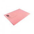 Q-Connect Square Cut Folder Lightweight 180gsm Foolscap Pink (Pack of 100) KF26029