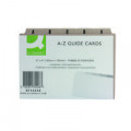 Q-Connect Guide Card 152x102mm A-Z Buff (Pack of 25) KF35208