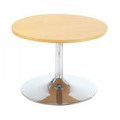Jemini Beech 800mm Low Bistro Table with Trumpet Base KF838813
