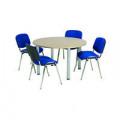 Jemini Maple 1200mm Circular Meeting Table KF840183