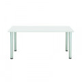 Jemini White 1200x800mm Rectangular Meeting Table KF840185