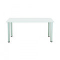 Jemini White 1600x800mm Rectangular Meeting Table KF840186