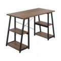 Jemini Soho Desk with Angled Shelves Dark Walnut/Black Leg SD05BKDW