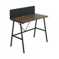 Jemini Soho Desk with Backboard Dark Walnut/Black Leg SD09BKDW