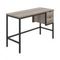 Soho Computer Desk With 2 Drawers Grey Oak/Black KF90925