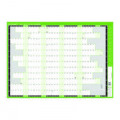 Q-Connect Academic Planner Mounted 855 x 610mm 2021-22 KFAYPM21
