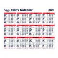 Letts Yearly Calendar 210 x 260mm 2021 21-TYC