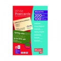 Decadry Postcards A4 Micro-perforated Sheet White (Pack of 100) OCB3325