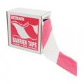 Flexocare Polythene Barrier Tape 72mmx500m Red/White 7101001