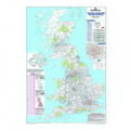 Map Marketing UK Postcode Areas Laminated Map BIPA
