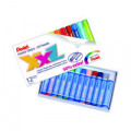 Pentel Oil Pastels Large Assorted Colours (Pack of 12) GHT-12