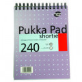 Pukka Pad Ruled Wirebound Metallic Shortie Notebook 240 Pages A5 (Pack of 3) SM024