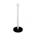 VFM White Freestanding Post With Circular Plastic Base 328349