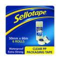 Sellotape Poly Packaging Tape 50mmx66m Clear (Pack of 6) 1445171