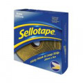 Sellotape Sticky Hook and Loop Strip 6m (Permanent self-adhesive hook and loop strip) 1445180