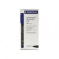 Staedtler Lumocolour Pen Permanent Fine Blue (Pack of 10) 318-3