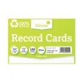 Silvine Climate Friendly Lined Record Cards 6 x 4in 564RE