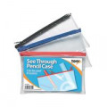 See Through Pencil Case 200 x 125mm (Pack of 12) 300794
