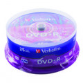 Verbatim DVD+R Spindle 16x 4.7GB (Pack of 25) 43500