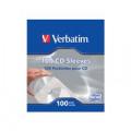 Verbatim CD/DVD Sleeves Paper (Pack of 100) 49976