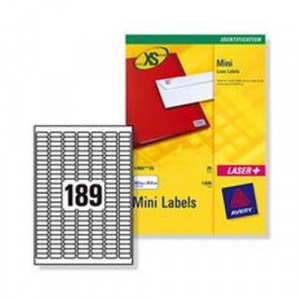 534608 avery mini inkjet labels 189 per sheet 25 4x10mm white