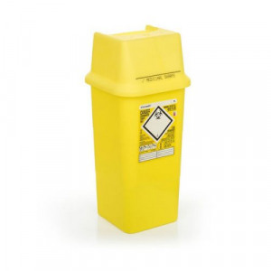 Click Medical Sharps Bin Temporary & Final Closure Feature 7L Yellow Ref  CM0646 *Up to 3 Day Leadtime*