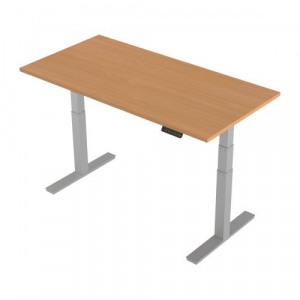 Sit Stand Desk >> 156127 Trexus Sit Stand Desk Height Adjustable Silver Leg