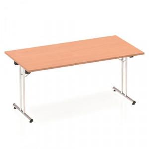 Sonix Rectangular Chrome Leg Folding Meeting Table - Foldable meeting table