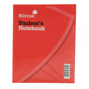 Sv43480 Silvine Exercise Book 200x160mm 40 Leaf Ruled Feint
