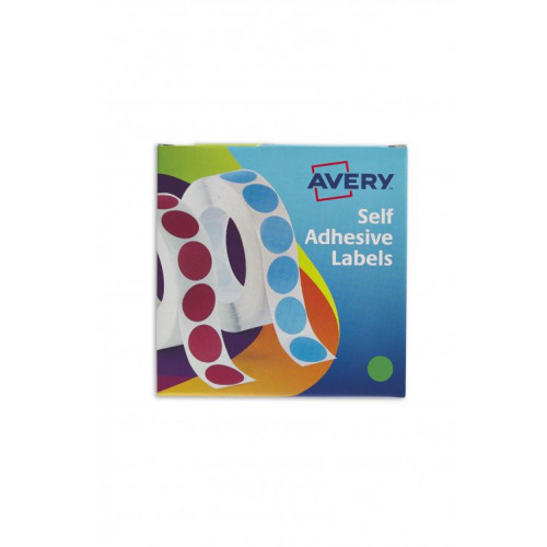 Avery Labels in Dispenser on Roll Round Diam 19mm Green Ref 24-507 [1120  Labels]