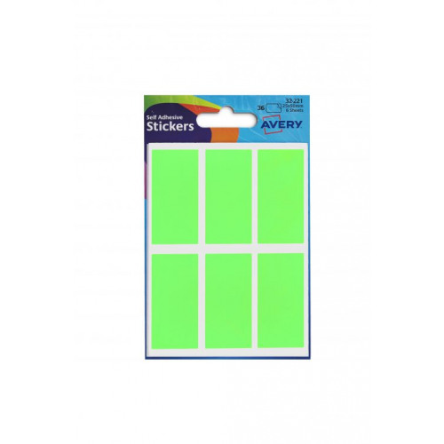 Avery Self-Adhesive Labels 50x25mm Flourescent Green