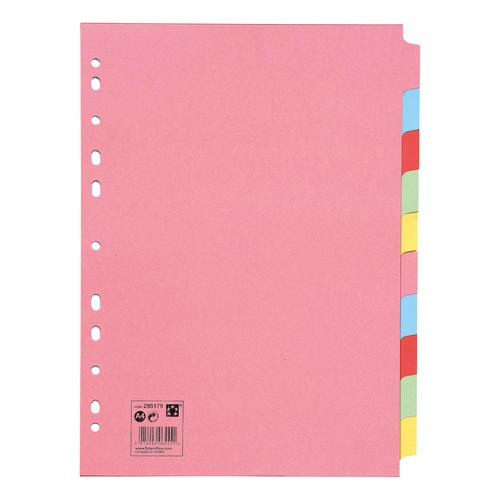 295179 5 Star Office Subject Dividers 10-Part Recycled Card