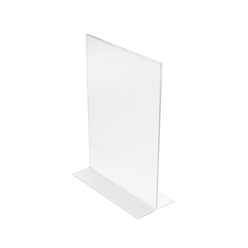 018981 Stand Up Sign Holder Double Sided Portrait A5 Clear