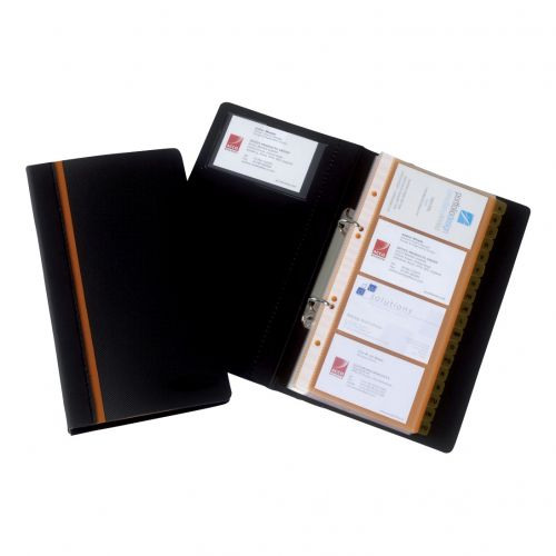 378258 business card book professional ring binder with a z colourmoves