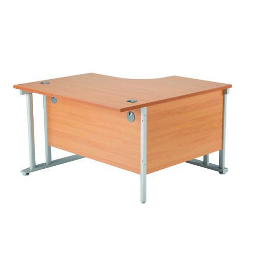 Kf839274 Arista 1200mm Rh Cantilever Radial Desk Beech