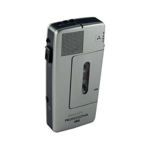 Philips Pocket Professional 488 Voice Recorder Recording Device Mini Cassette