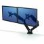 Fellowes Dual Monitor Arm Adjustable 360-degree Rotation Black Ref 8042501