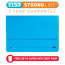 Elba Bright Manilla Document Wallet 320gsm Capacity 32mm Foolscap Blue Ref 100090140 [Pack 25]