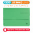 Elba Strongline Manilla Document Wallet 320gsm Capacity 32mm Foolscap Green Ref 100090268 [Pack 25]