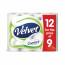 Triple Velvet Toilet Rolls 120x109mm 3-Ply White Ref 1102092 [Pack 9 Plus 3 FREE]