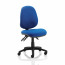 TrexusP 3 Lever High Back Asynchronous Chair Blue 500x450x450-570mm Ref OP000083