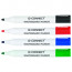 Q-Connect Drywipe Marker Wallet of 4 Assorted KF26038