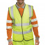 Proforce Class 2 Large Yellow High Visibility Vest HV08YL-L