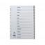 Concord A4 12-Part January-December Grey Polypropylene Index 63005