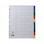 Concord Index 1-10 A4 Extra Wide Polypropylene Multicoloured 67199