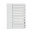 Q-Connect Multi-Punched 1-15 Polypropylene White A4 Index KF01355