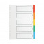 Q-Connect Multi-Punched 5-Part Reinforced Multi-Colour A4 Index Blank Tabs KF01525