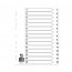 Q-Connect Multi-Punched 1-15 Reinforced White Board A4 Index Clear Tabbed KF01530