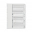 Q-Connect Multi-Punched A-Z 20 Part Reinforced White Board A4 Index Clear Tabbed KF01532