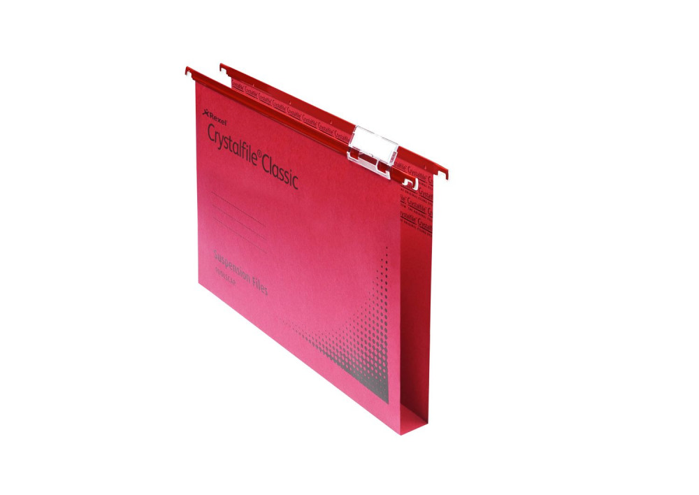 REXEL CRYSTALFILE SUSP FILES FS RED P50